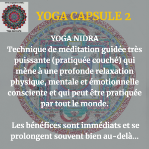 yoga capsule 2 - yoga nidra FR