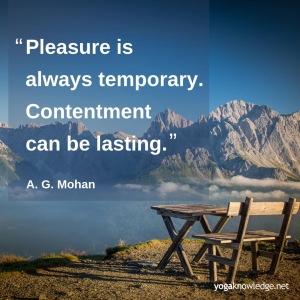 plaisir temporaire contentement dure Mohan